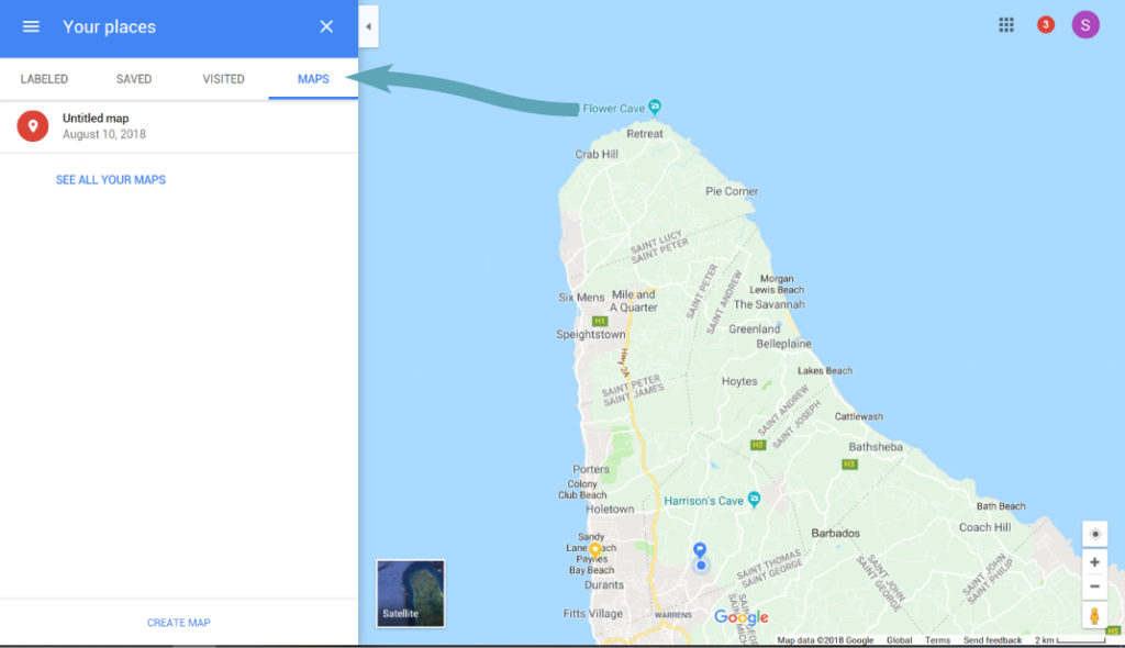 Find Your Map on Google Maps