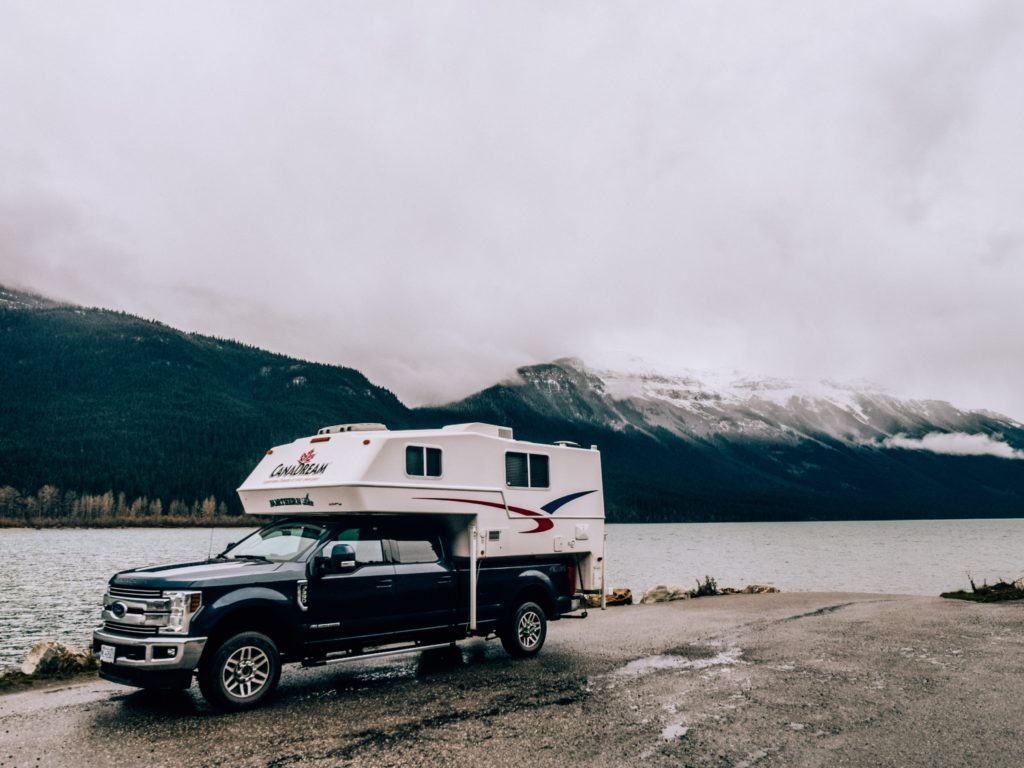 Our RV Rental just before Jasper National Park